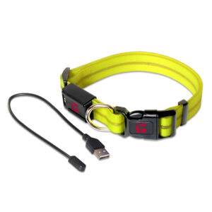 LED Adjustable Collar Large Yellow